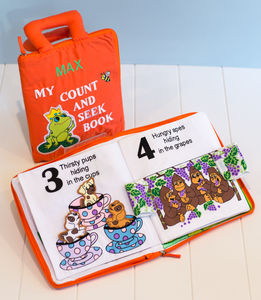 Count And Seek Personalised Fabric Book