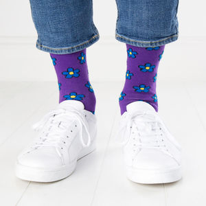 Purple Flower Socks