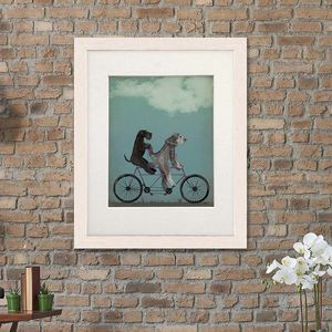 Schnauzers On Tandem Art Print