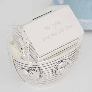 Personalised Noah's Ark Money Box - christening gifts