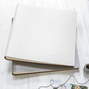 Personalised Natural Tones Leather Photo Album - albums & guest books