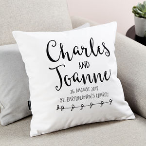 Anniversary Cushion - home wedding gifts