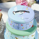 Set Of Three Garden Bird Cake Tins