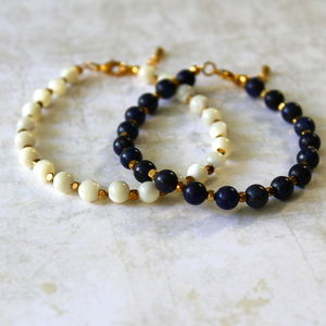 Children's Hand Beaded Semi Precious Stone Bracelet