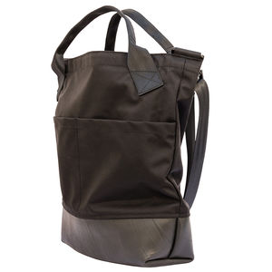 Reclaimed Rubber / Canvas Tote With Shoulder Strap