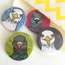 Angry Birds Seagull And Pigeon Badge Set