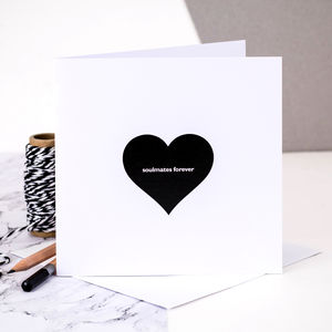 Wedding Card; 'Soulmates Forever' - wedding cards