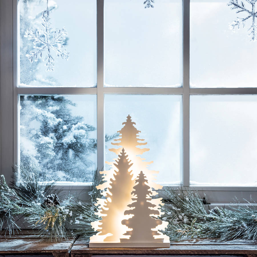 Aspen forest christmas window light by lights4fun for 18 lighted christmas tree with stars window silhouette decoration