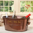 Personalised Copper Wine And Champagne Chiller Bucket