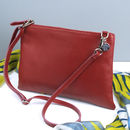 Jemma Personalised Leather Clutch Or Cross Body Bag - Ox Blood