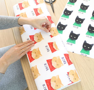 Personalised Cat Christmas Wrapping Paper
