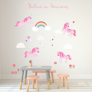 Unicorn Fabric Wall Stickers