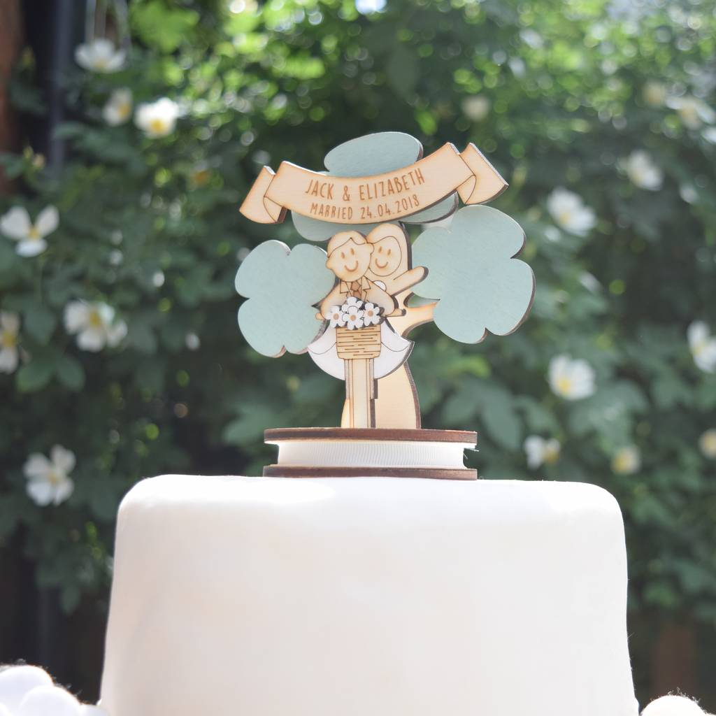 Personalised Bicycle Wedding Cake Topper By Just Toppers