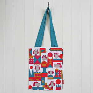 Book Bag In Cute Bird Design - winter sale