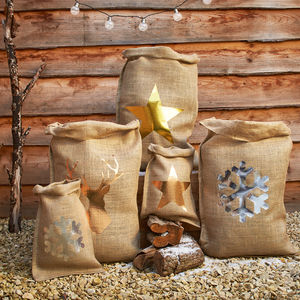 Metallic Christmas Sack - stockings & sacks