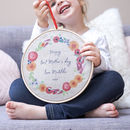 Personalised Floral Mother's Day Hoop
