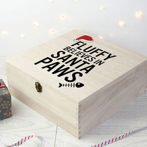 Personalised Pets Santa Paws Christmas Eve Box - christmas eve boxes