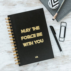 Personalised Star Wars 'May The Force…' Notebook - writing