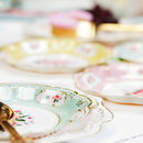 afternoon tea plates