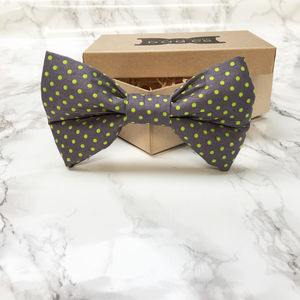Dilly Neon Spotty Dog Bow Tie - dogs
