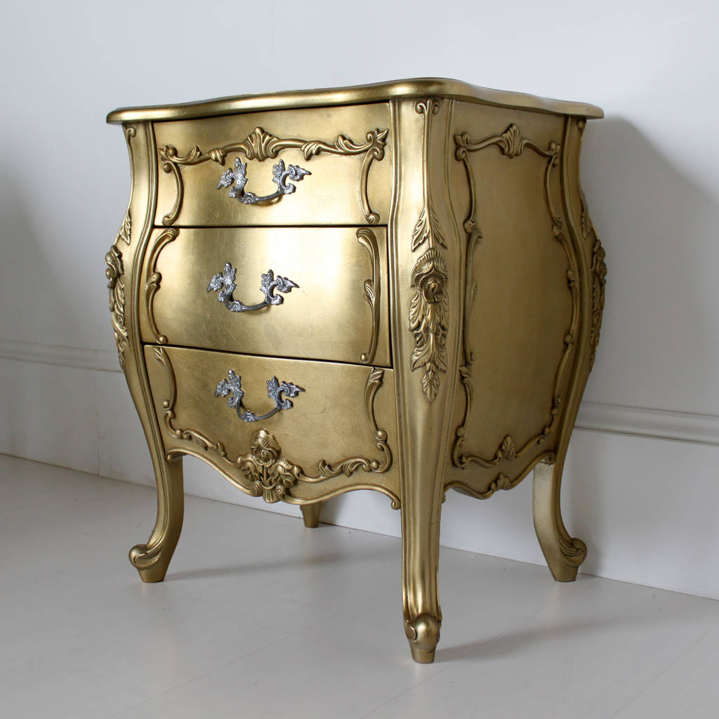 French Three Drawer Bedside