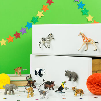Safari Animal Furniture Knobs ~ Set Of 12
