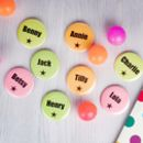 Neon Personalised Badges