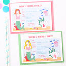 Mermaid Children Party Invitations