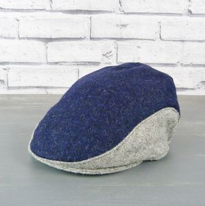 Yorkshire Tweed Colour Block Flat Cap - men's accessories