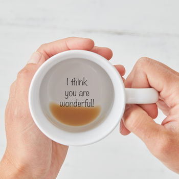 I Think You Are Wonderful! Hidden Message Mug