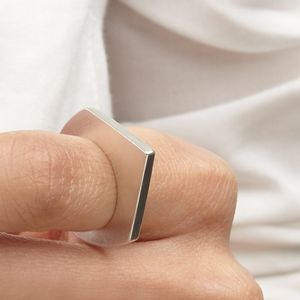 Triangle Polished Edge Ring - contemporary jewellery
