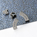Curved Diamond Stud Earrings