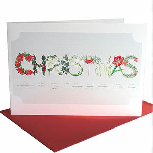 Classic Christmas Flower Letter Card