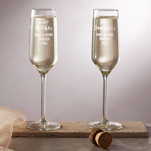 Personalised 'Like Mother, Like Daughter' Flute Set - glassware