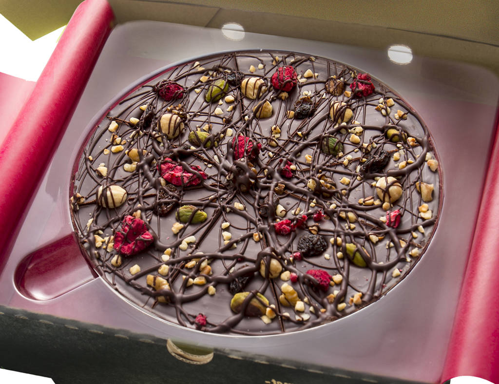 Decadent Dark Chocolate Pizza