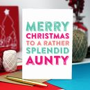 Merry Christmas Aunty Greetings Card
