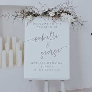Isabelle Welcome Sign - decoration