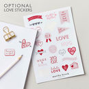 Personalised Love Hearts Foiled Notebook