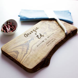 Personalised Wedding Gift Cheese Board - chopping boards