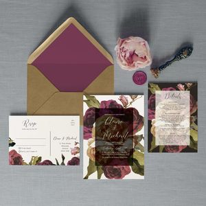 Flourish Wedding Invitation Set