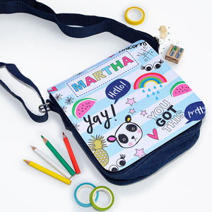 Girls Personalised Doodle Style Denim Bag - new in baby & child