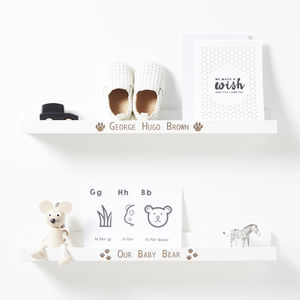 Personalised Baby Bear Shelf - baby & child sale
