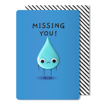 Missing You Card + Tear Magnet