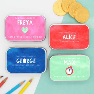 Personalised 'Back To School' Gift Tins