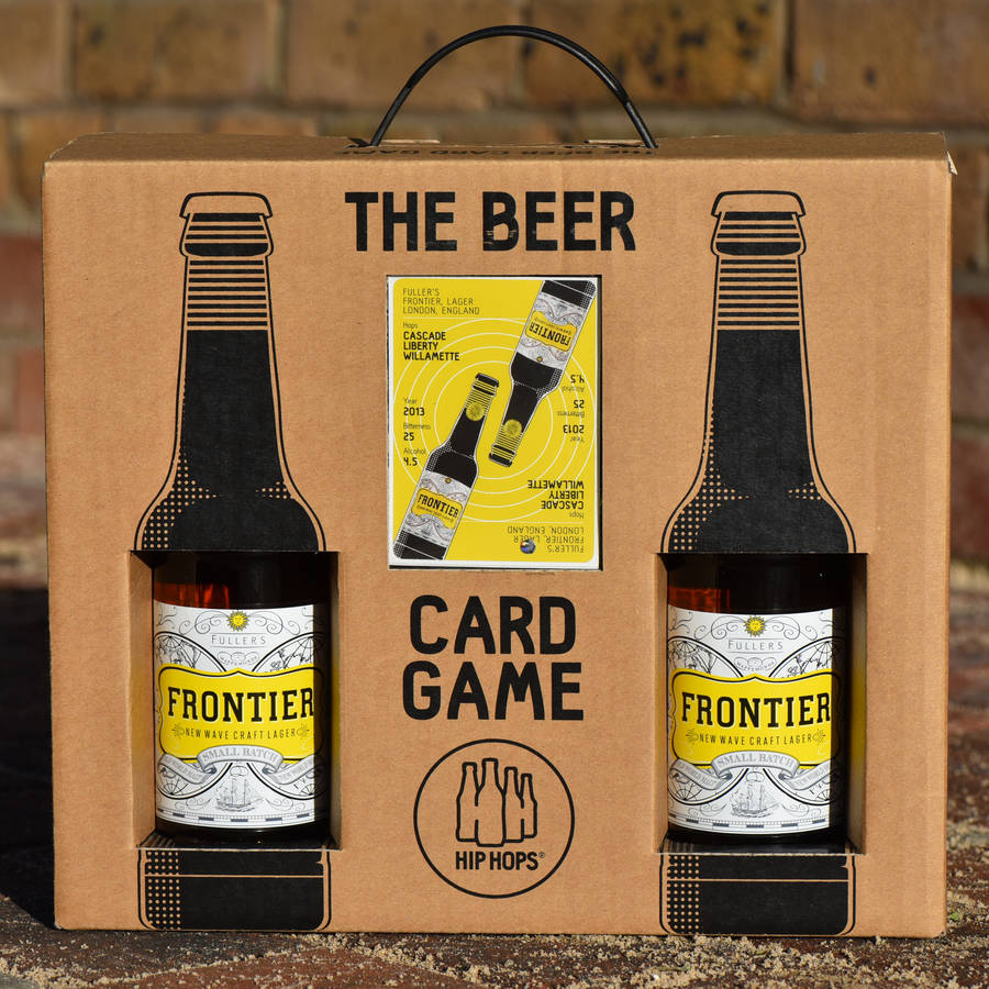 beer card game and lager gift set by hip hops
