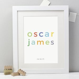 Personalised Childs Name Print - winter sale
