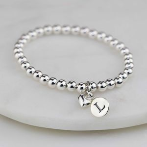 Personalised Child's Bracelet With Silver Heart Charm - baby & child sale
