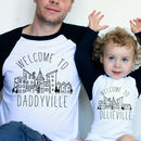 Personalised Daddyville Matching Fathers Day T Shirts