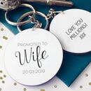 Promoted To Wife Personalised Keyring