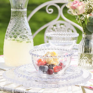 Bella Perle Glass Dinnerware Collection - tableware